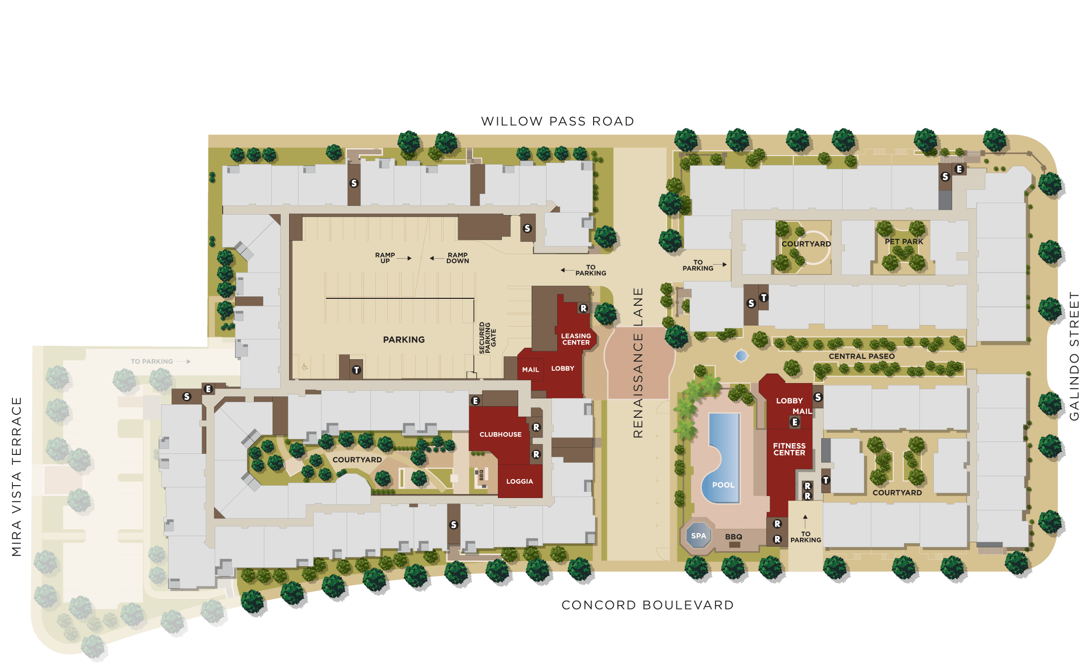 Renaissance Square Site Plan Upper Levels