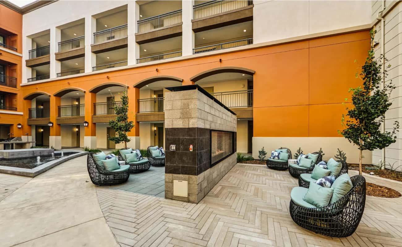 Courtyard Fireplace